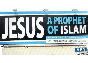 Muslim advertising in Sydney, Australia of Jesus as a Prophet of Islam