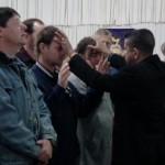 Pr Daniel ministering to people in Mildura