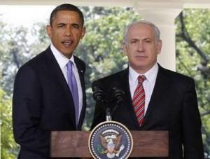 American President Obama and Israeli Prime Minister Benjamin Netanyahu