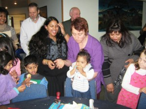 Sister Geraldine, Baby Shameer, Mother, Grandmother and others at CTFM