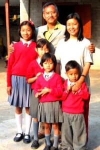 Phughoto Sema with his family