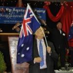 Lord Monckton waving Australian Flag