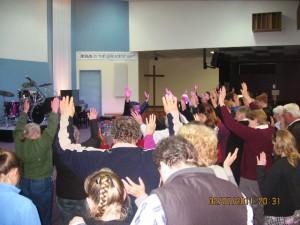 Pr Daniel ministering Holy Spirit fire in Tasmania