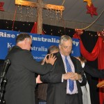 Pr Daniel Chairman of RUA Party and some CTFM leaders praying for Lord Monckton