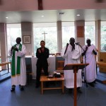 Pr Daniel about to minister at Sudanese Church in Ringwood