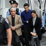 Mohammad (left) and Hamed Shafia (centre), and Tooba Mohammad Yahya (right) arrive at court where they are on trial over the deaths of Mohammad Shaifa's three daughters and first wife  Read more: http://www.dailymail.co.uk/news/article-2061842/Mohammad-Shafia-murdered-daughter-honour-killing-said-hed-again.html#ixzz1dvZattrb