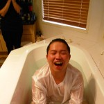 Martin receives Holy Spirit baptism with tongues after water baptism