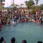 Part of thousands of Muslim converts to Jesus being baptises in Indonesia
