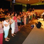 People at the altar at Dream Life Church in Perth