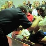 Pastor Jay ministering deliverance