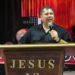 Pastor Jay preaching