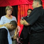 Young man receives ministry