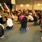 Repenting at  altar