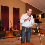 Sharing testimony of victory in Jesus over weekend