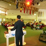 Pr Daniel ministering at a church on the Gold Coast