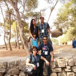 Pr Daniel and his family in Israel