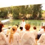 Preparing for baptism in Jordan river