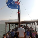 CTFM team from Australia on boat ride on Sea of Galilee