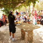 Pr Daniel preaching Word of God at Mt Carmel
