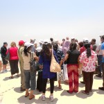 Praying over Jezreel Valley by Mt Megiddo where Battle of Armageddon will take place