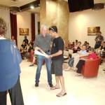 Receiving Baptism Certificates from Jordan River