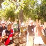 Worshiping Lord at Garden Tomb