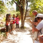 Pr Daniel and his family lead worship and holy communion at Garden Tomb