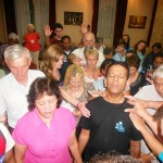 CTFM team pray for Pr Daniel, Maryse and family