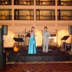 Nigel & Shannen Nalliah singing at wedding