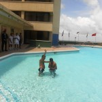 Baptism in swimming pool