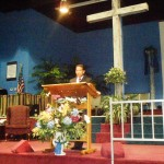 Ministering at another Pentecostal church in Louisiana