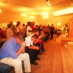 Ministering to people at AOG church in Baton Rouge, Louisiana