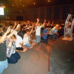 People repent and pray at altar in Sacramento California
