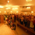 People respond to altar at AOG church in Baton Rouge, Louisiana