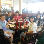 Pr Daniel and Pr Wally with their families at lunch in California