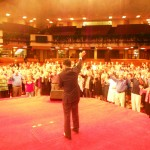 Pr Daniel preaching and leading people in prayer for America at Pr Jimmy Swaggart's church in Baton Rouge, Louisiana