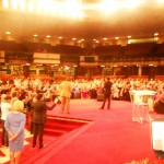 Pr Daniel leading people in prayer for America at altar call at Pr Jimmy Swaggart's church