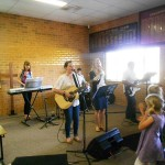 Church Youth leading worship