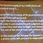 Isaiah 9:6-7 and The Second Coming of our LORD JESUS CHRIST