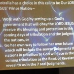 Australia's choice to be God's Prince Nation