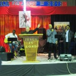 Pastor Robert Misst with CTFM Worship Team