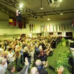Holy Spirit falls as people worship Jesus at altar