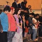 Youth and Young Adults receiving prayer
