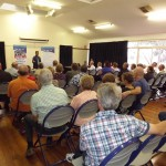 Pr Daniel speaking at RUAP public meetings in Dalby & Kingaroy