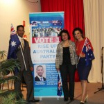 RUAP National President Daniel Nalliah, his wife Maryse & UK Lawyer Andrea Williams