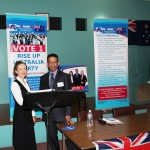 RUAP National President Daniel Nalliah introduces Bendigo Candidate Sandra Caddy