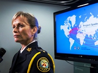 ***FREELANCE PHOTO - POSTMEDIA NETWORK USE ONLY*** TORONTO: NOVEMBER 14, 2013- Toronto police Unit commander of sex crimes Joanna Beaven-Desjardins, speaks at a press conference about Project Spade, a three-year, worldwide child exploitation investigation involving child pornography, in Toronto on November 14, 2013 . The investigation lead to 386 children being rescued which include 24 Canadian children and 341 people arrested worldwide.  (Michelle Siu for National Post)
