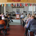 Pr Daniel speaking at Living Apostolic Church in Alice Springs