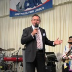 Steve Mannix ministers in song