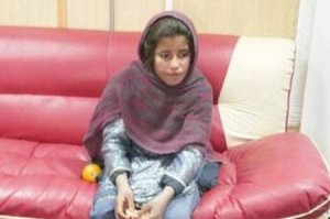 The ten-year-old sister of a Taliban commander has been arrested wearing a suicide vest, it has been revealed. Soldiers arrested the girl named as Spozhmay moments before she had planned to blow up local Afghan police
